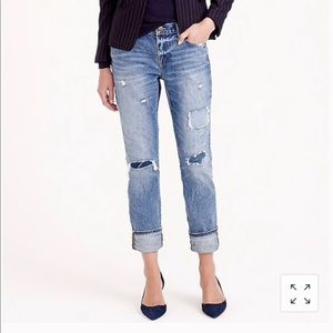 J. Crew 30 broken in boyfriend jeans harbor wash